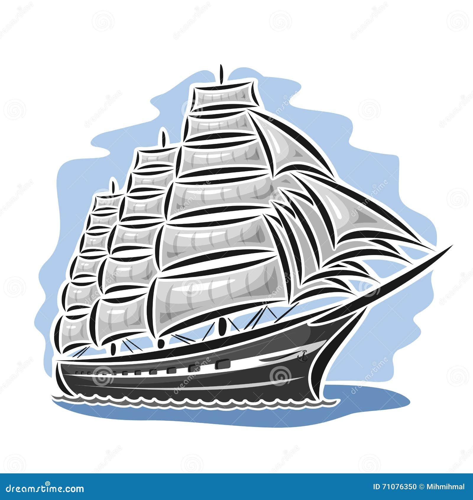 传染媒介商标帆船