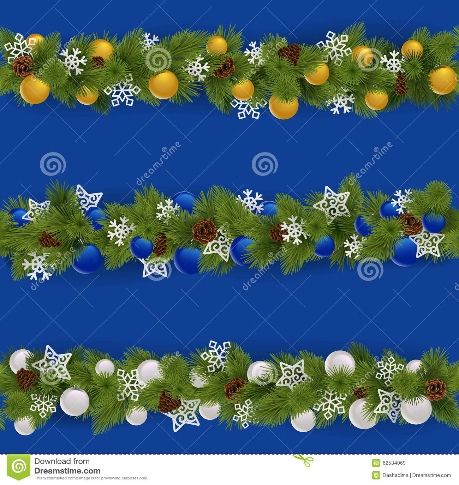 传染媒介圣诞节边界设置了2