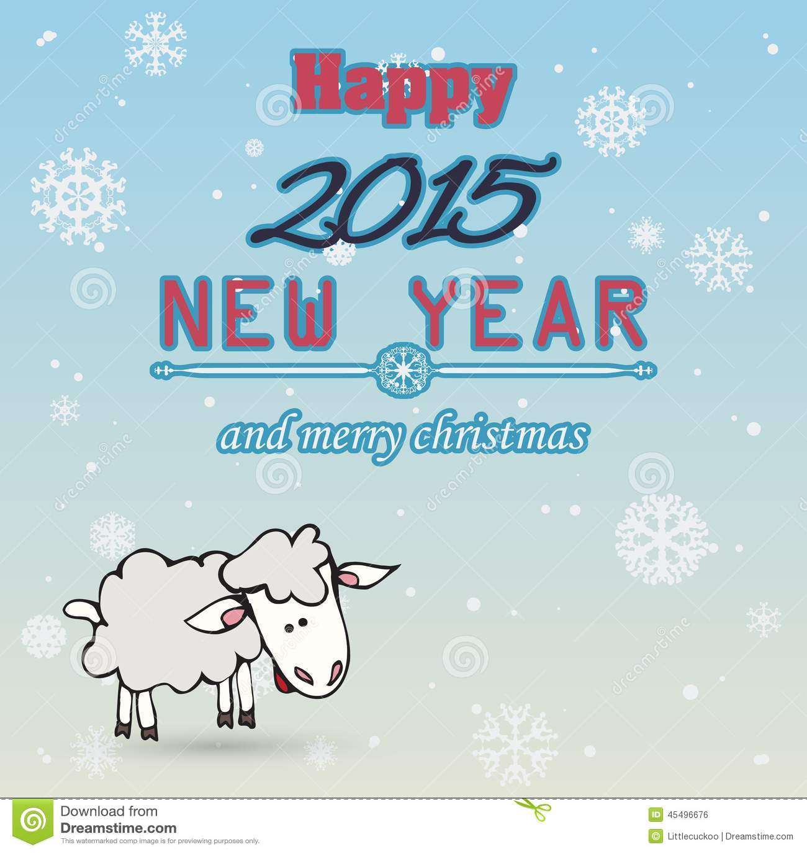 传染媒介2015年在印刷术样式的新年快乐背景