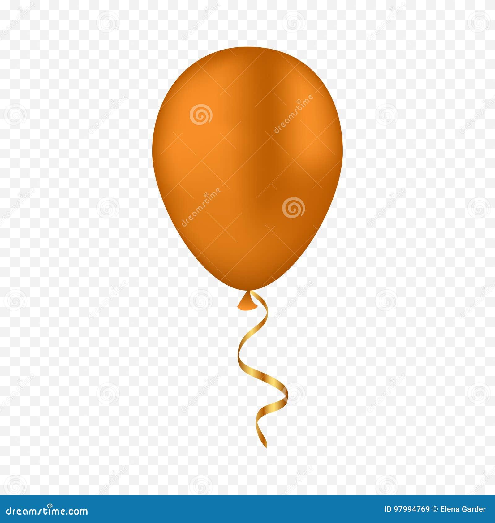 传染媒介在透明背景的金气球
