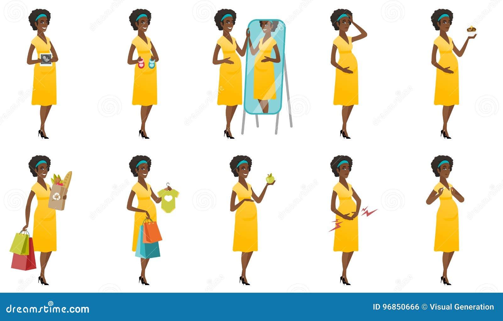 传染媒介套与孕妇的例证