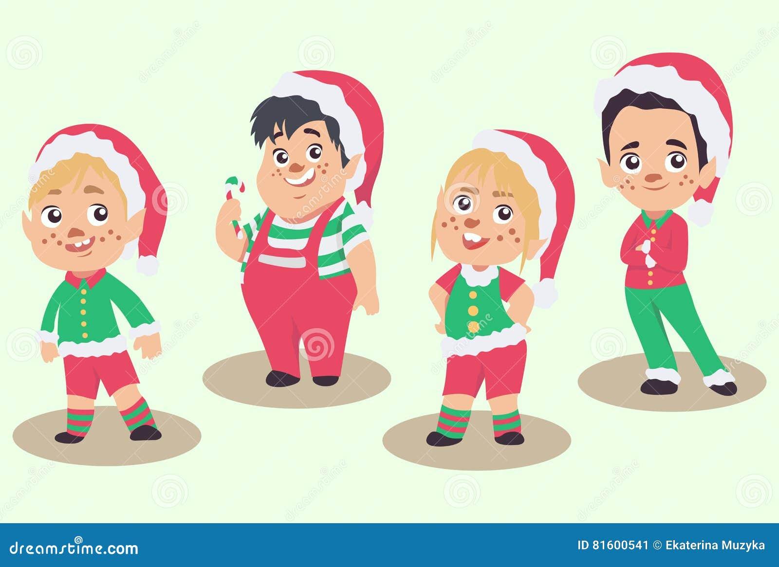 传染媒介套圣诞节矮子,隔绝在白色背景