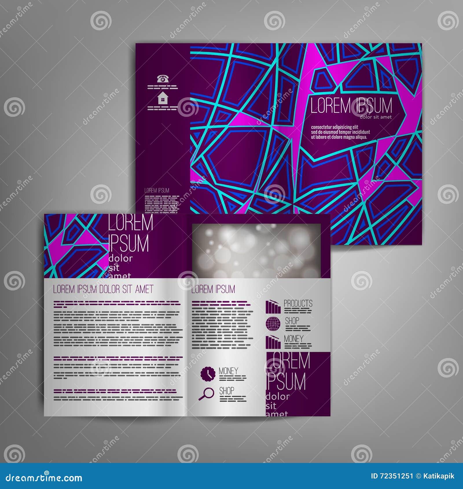 传染媒介小册子与抽象样式的模板设计