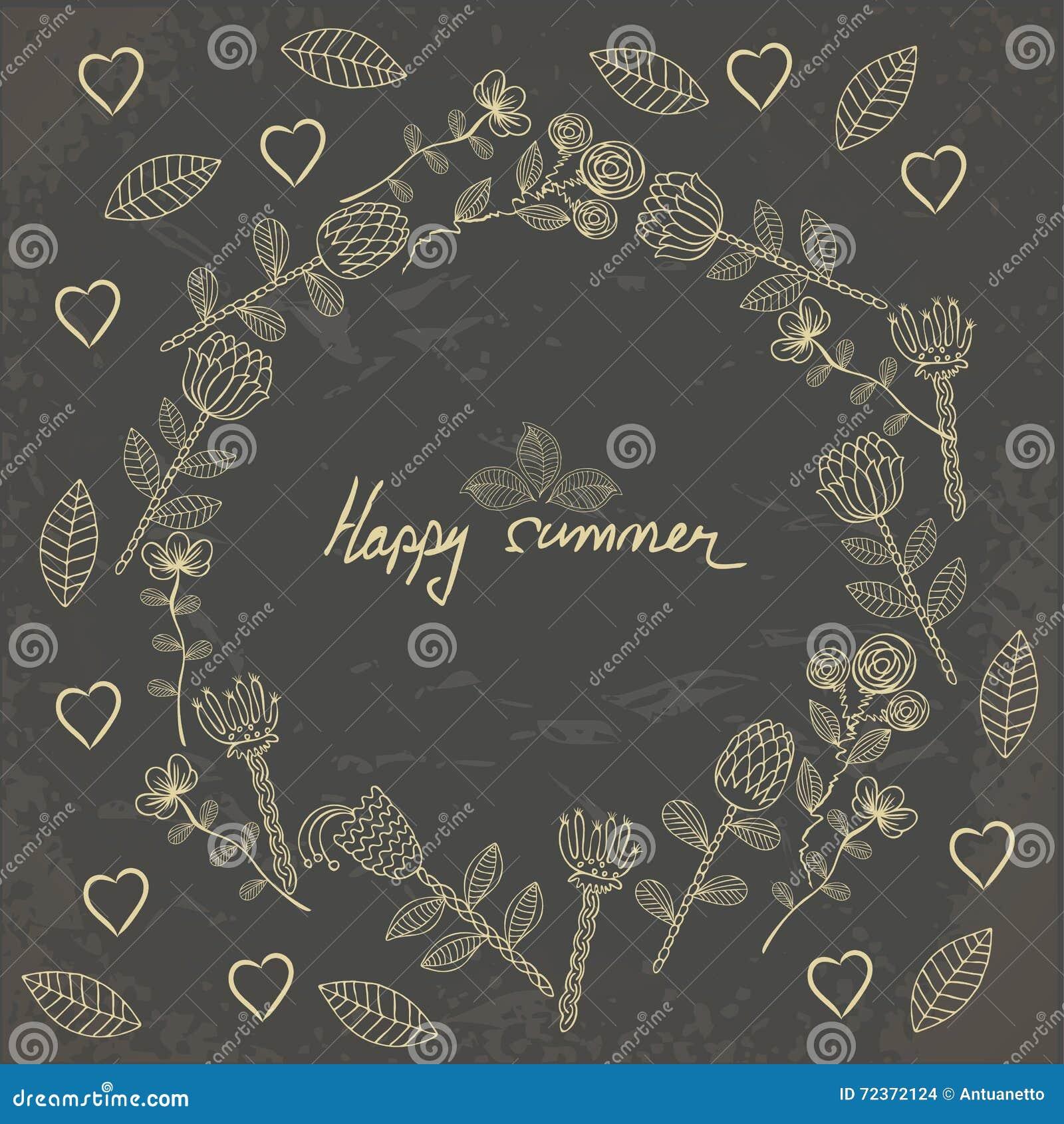 传染媒介手拉的花卉模板卡片