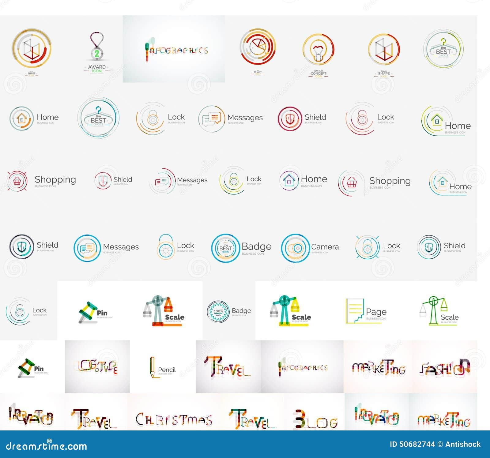 Download 传染媒介普遍兆套公司商标 向量例证. 插画 包括有 公司, 收集, 循环, 人们, 最小, 例证, 图标 - 50682744