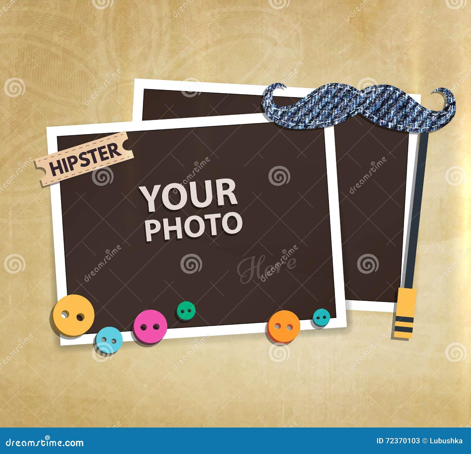 传染媒介照片框架