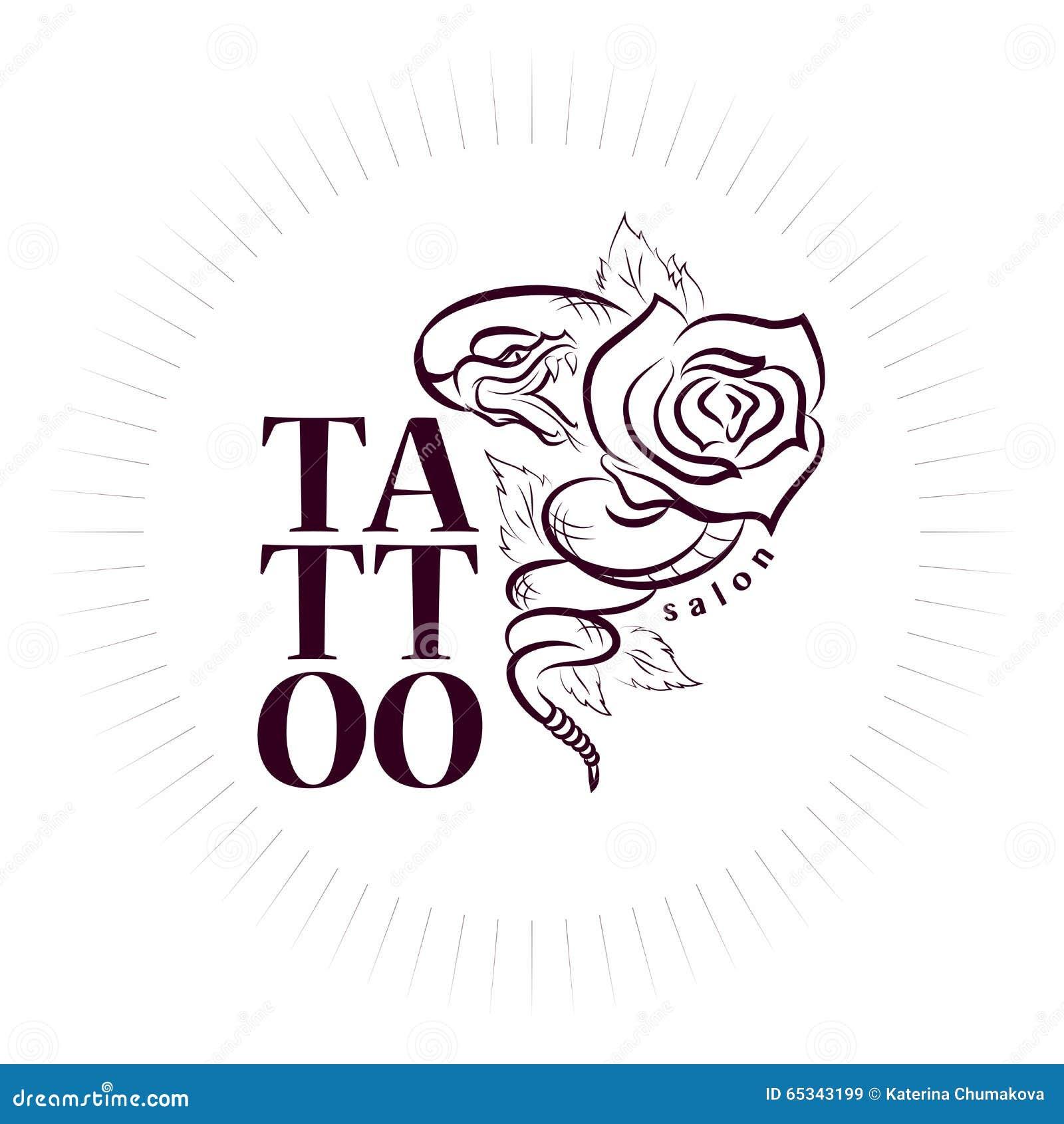 传染媒介纹身花刺标志 纹身花刺沙龙商标模板 印刷品和纹身花刺设计.