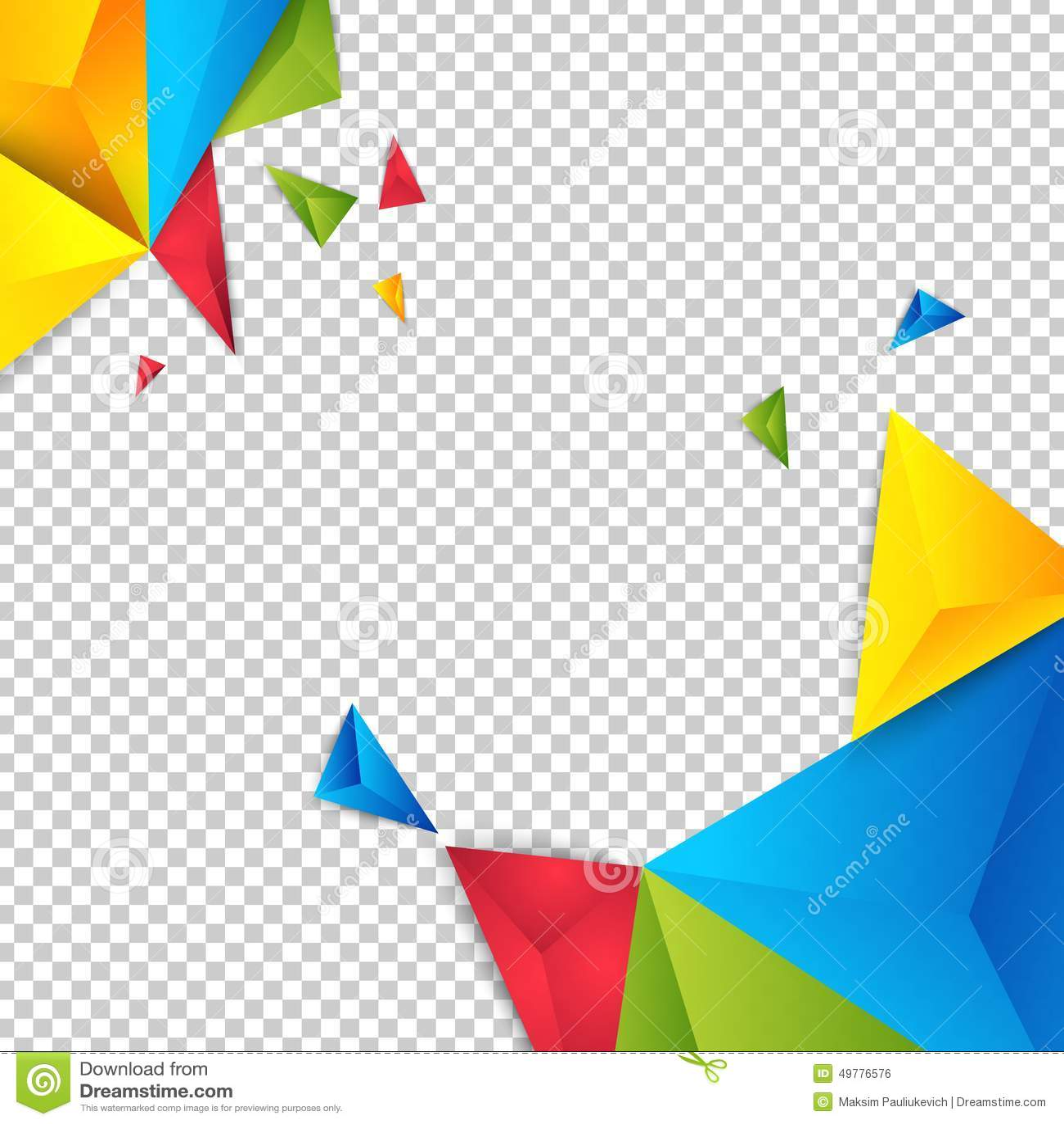 传染媒介颜色背景摘要多角形三角