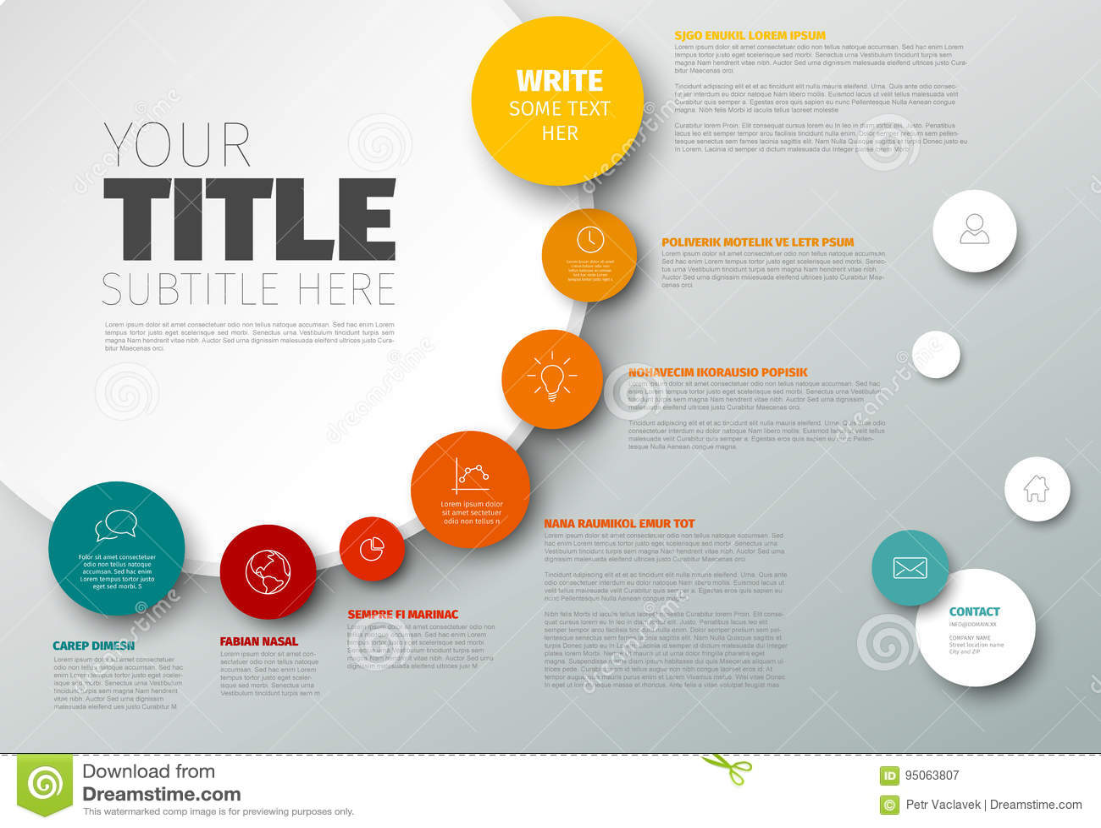 传染媒介Infographic时间安排报告模板
