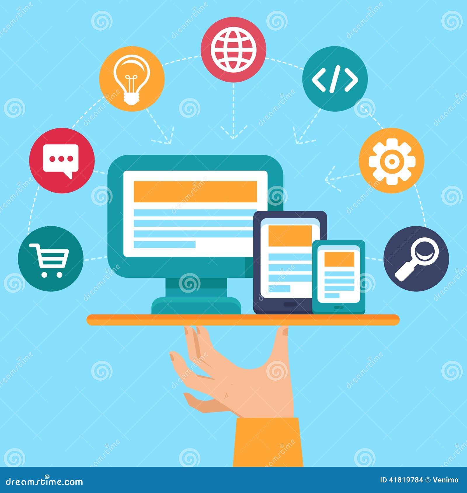 传染媒介webdesign和计划服务