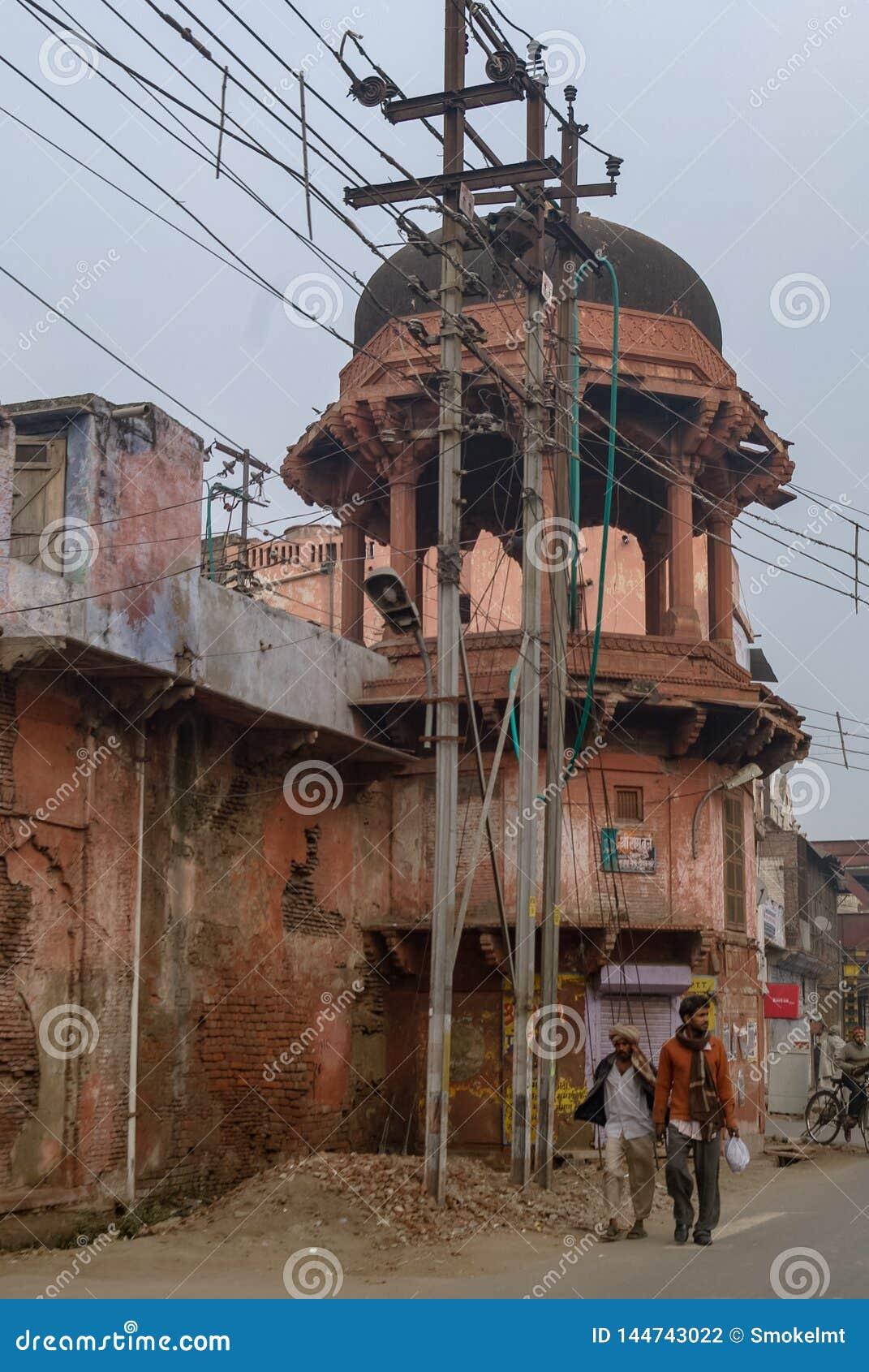 传统房子在阿格拉老镇,印度的北方邦状态