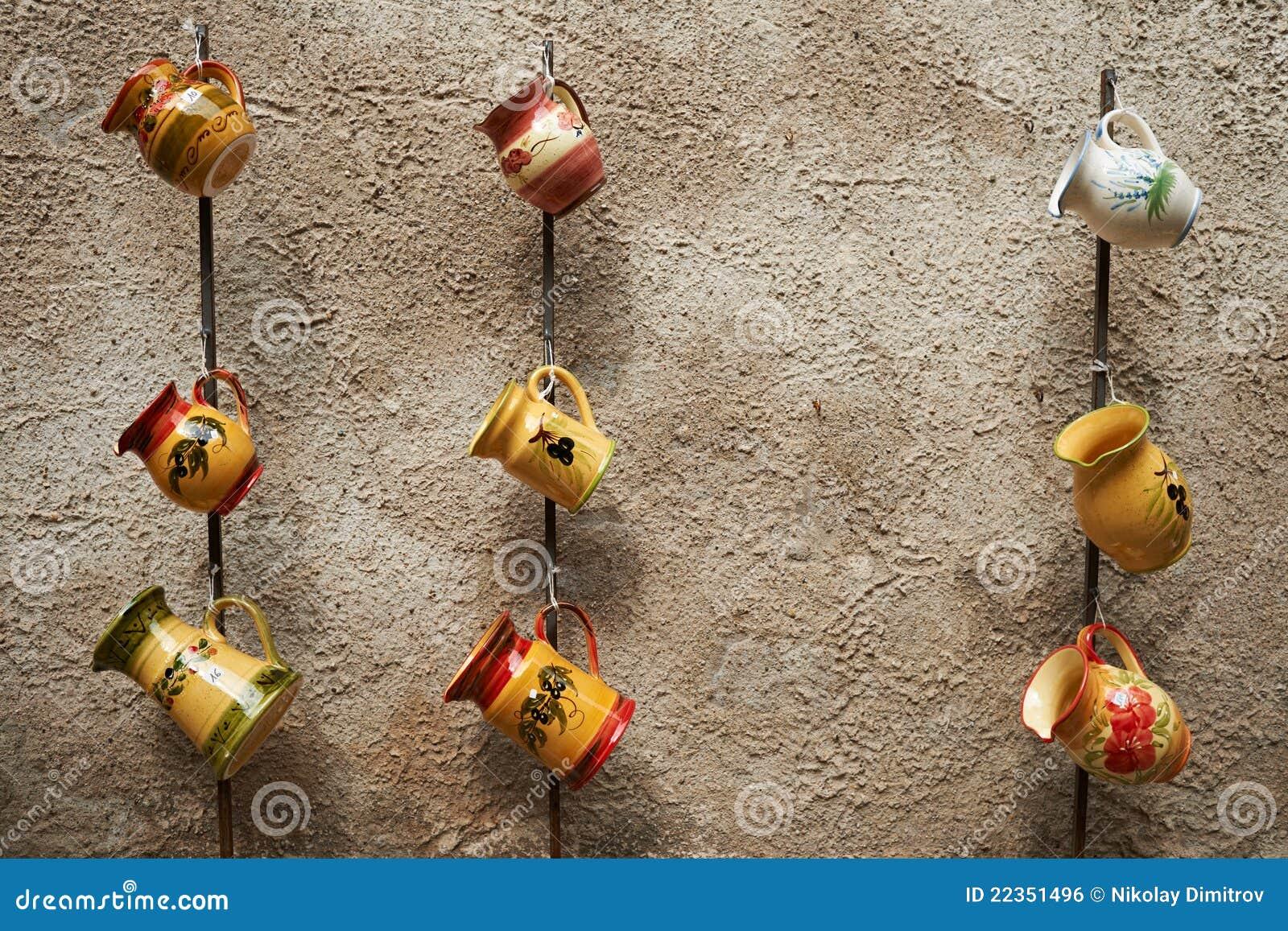 传统法国水罐的瓦器