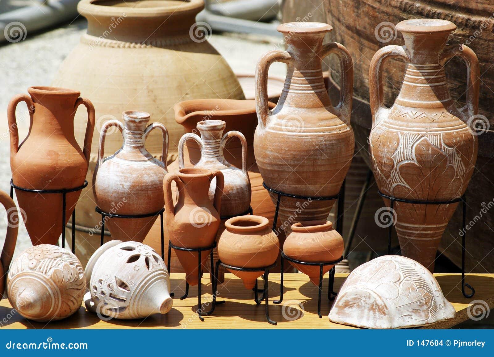 传统的泥罐
