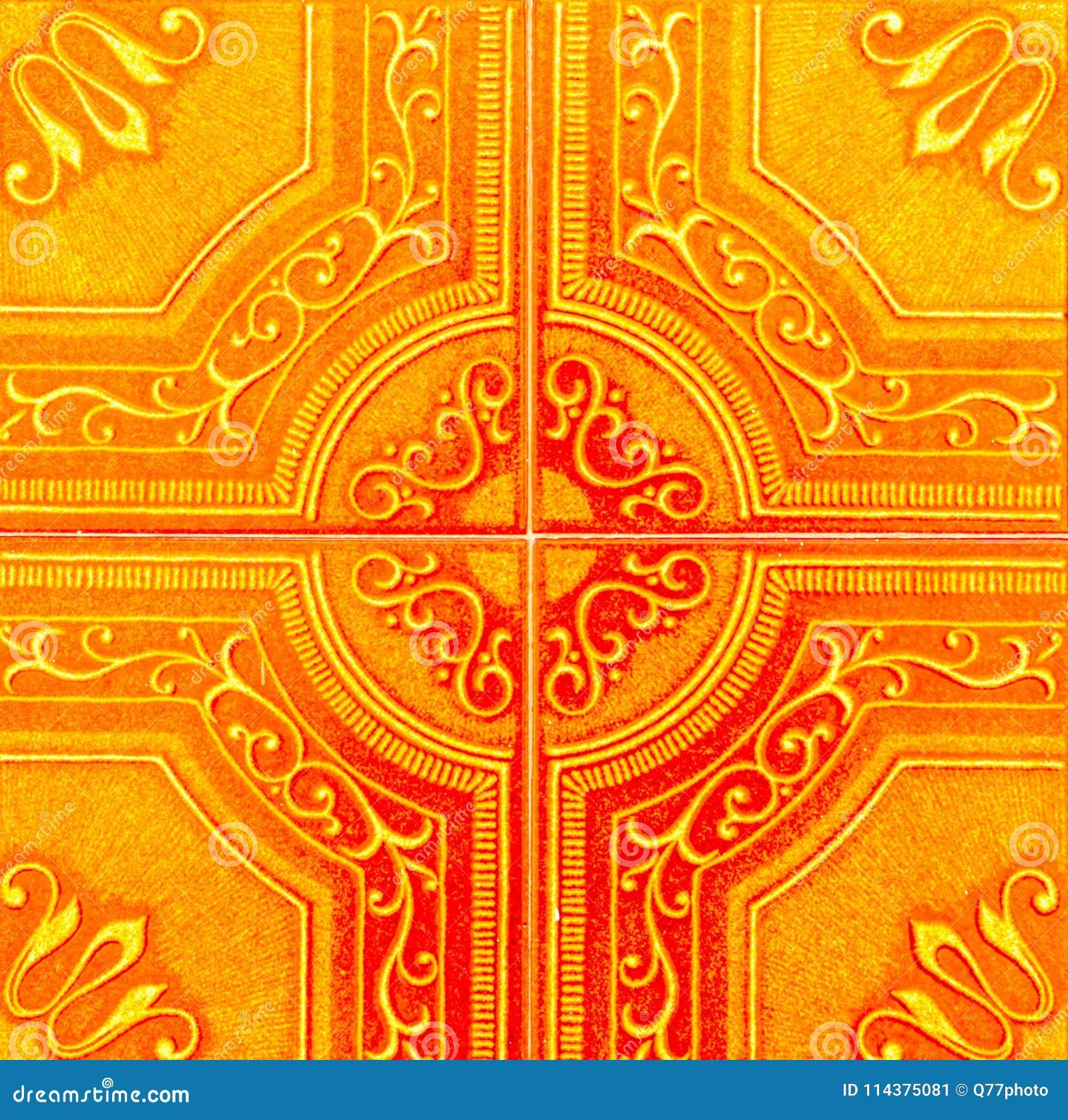 传统装饰西班牙装饰瓦片,原始的cerami
