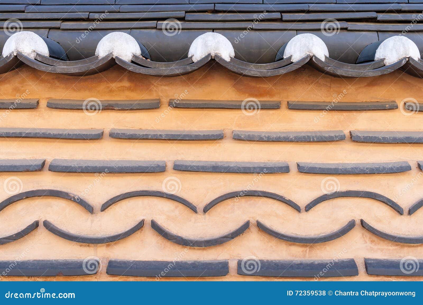 传统韩国砖墙背景