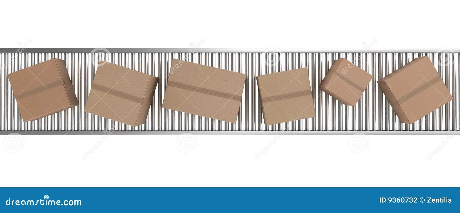 传送带把纸板传动机装箱