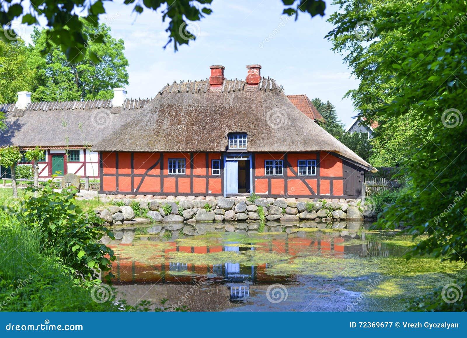 传统丹麦的房子