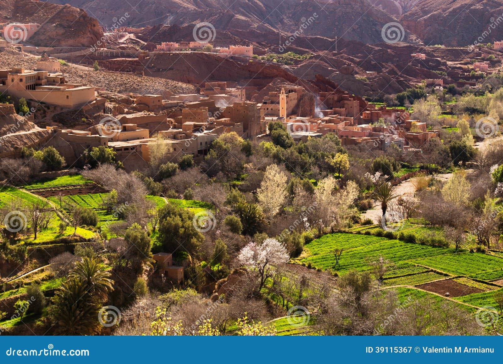 传统摩洛哥村庄