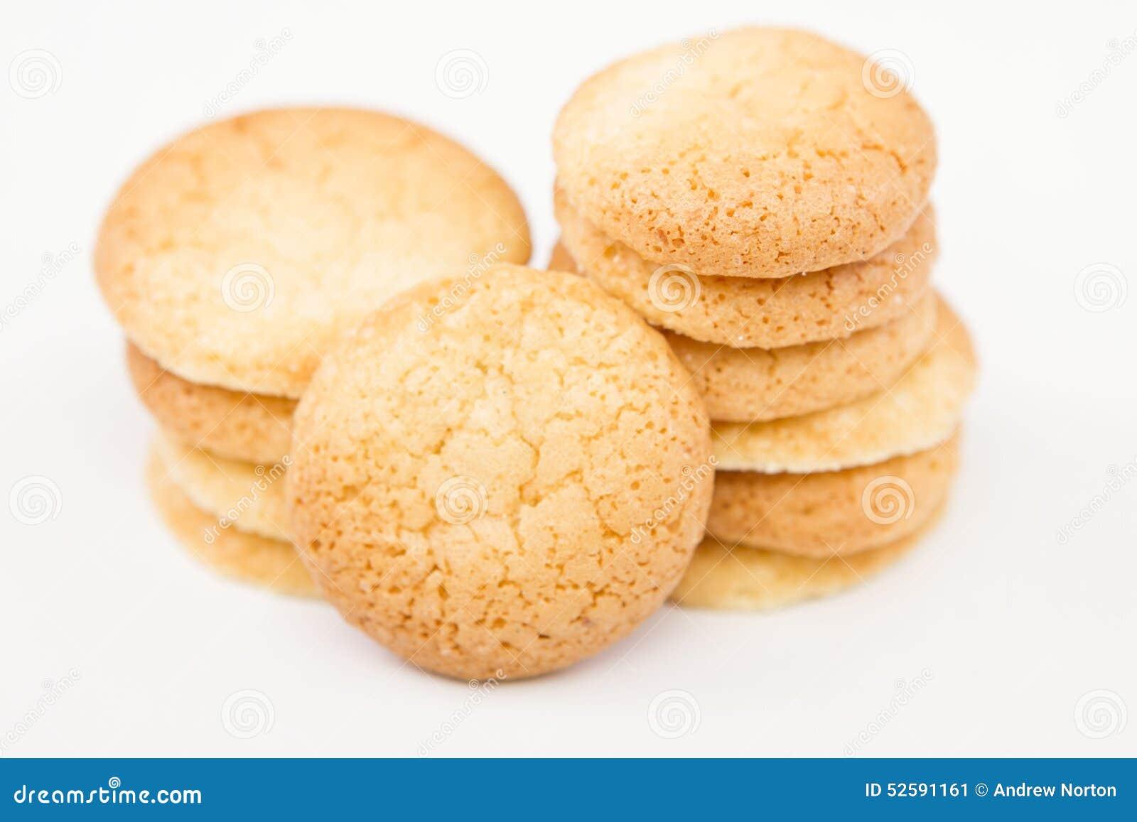 传统法国的蛋白杏仁饼干