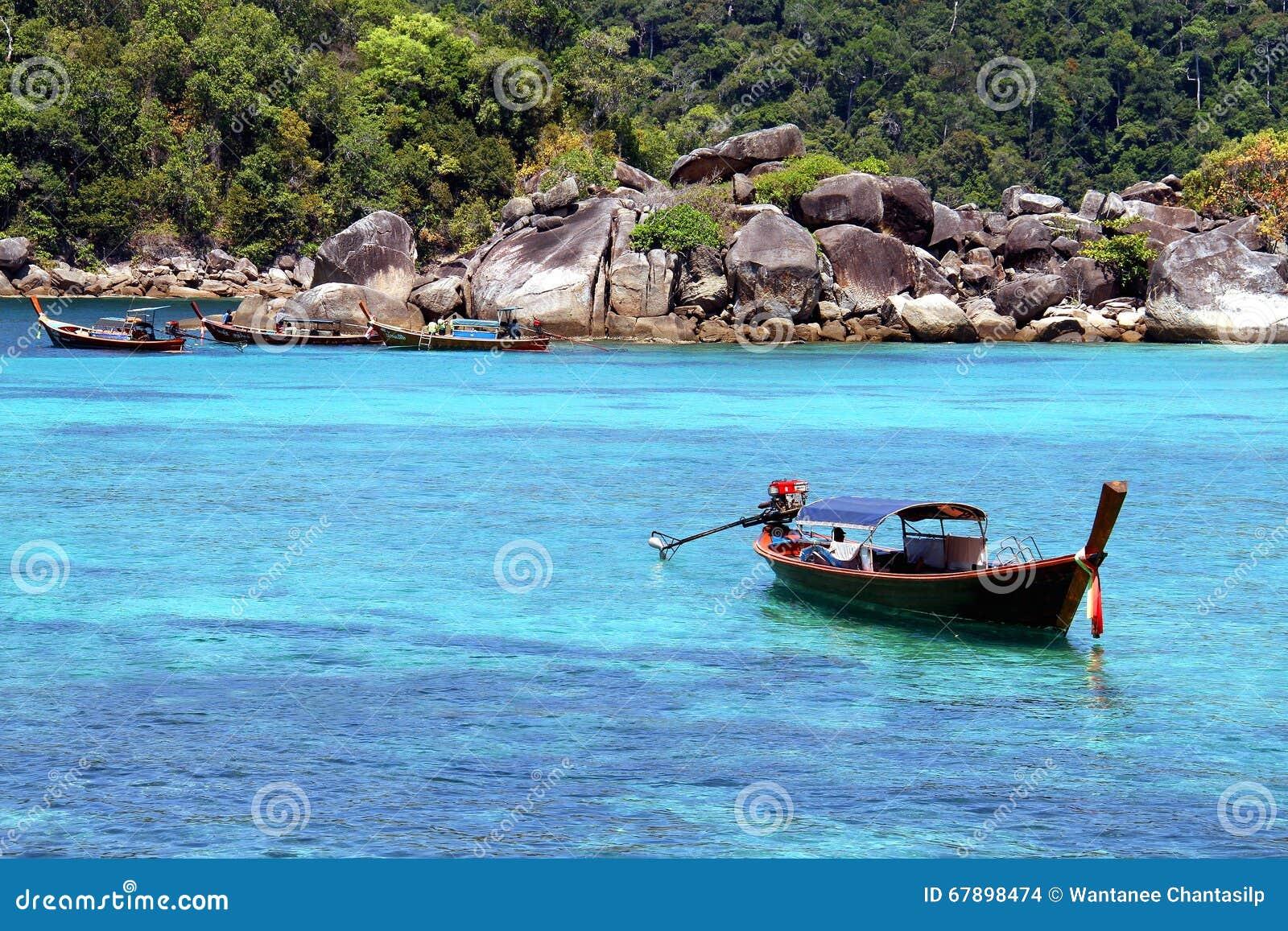 传统泰国longtail小船
