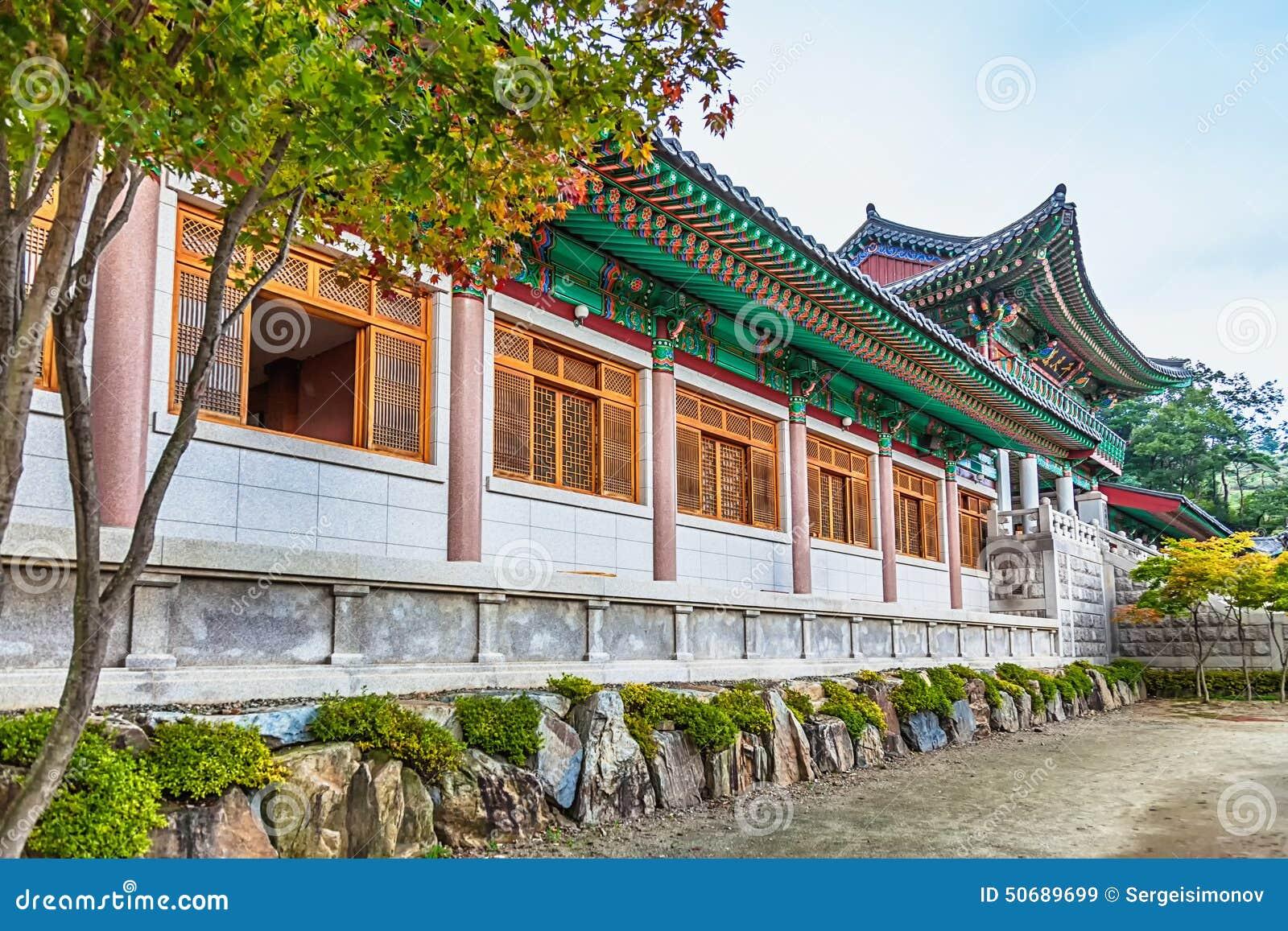 Download 传统建筑学老大厦寺庙在韩国 库存图片. 图片 包括有 寺庙, 反气旋, 镇痛药, 布琼布拉, 绿色, 修士 - 50689699