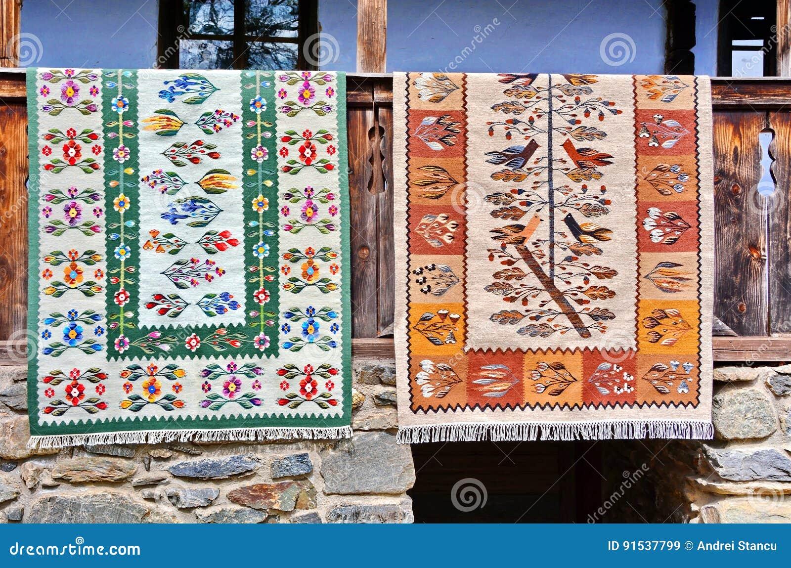 传统罗马尼亚的地毯