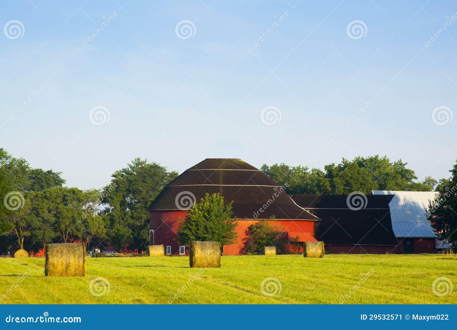 传统美国红色农场