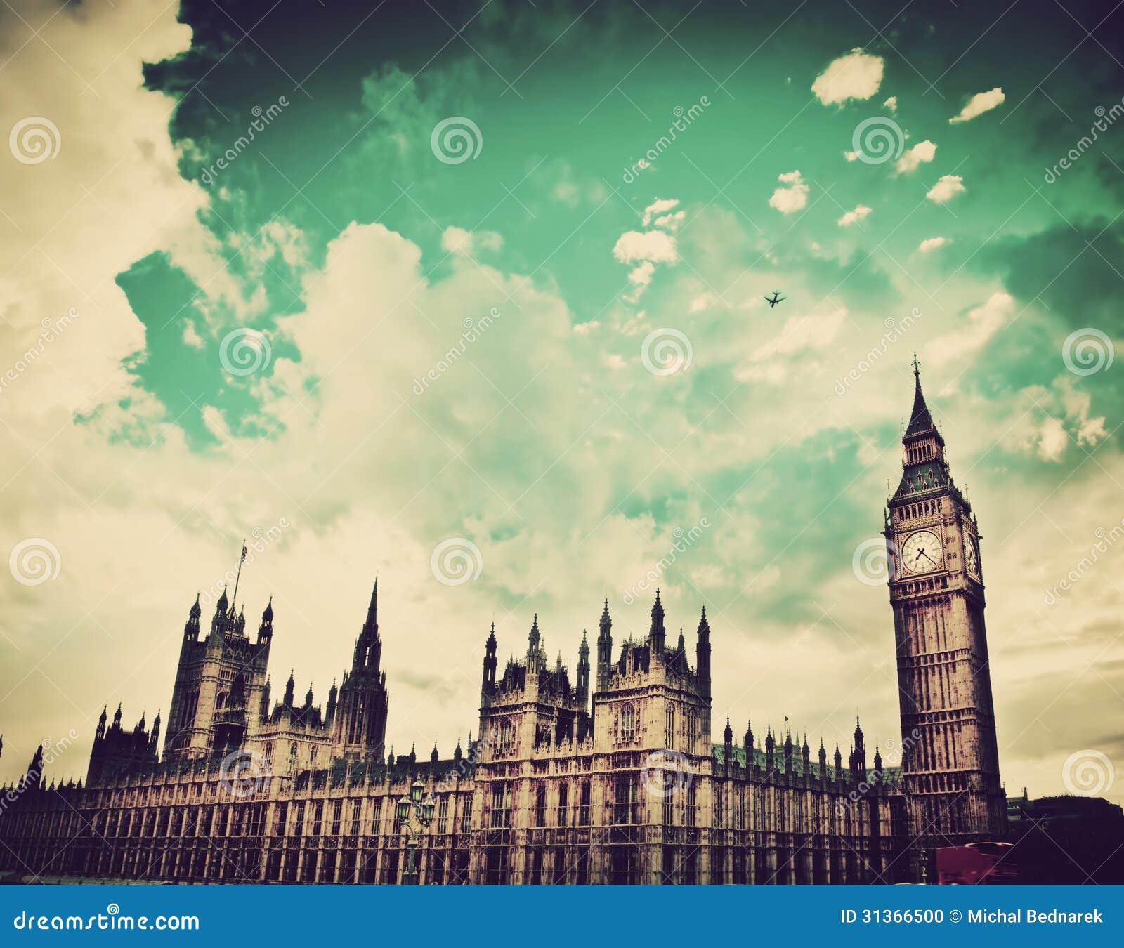 伦敦,英国。大本钟,威斯敏斯特宫