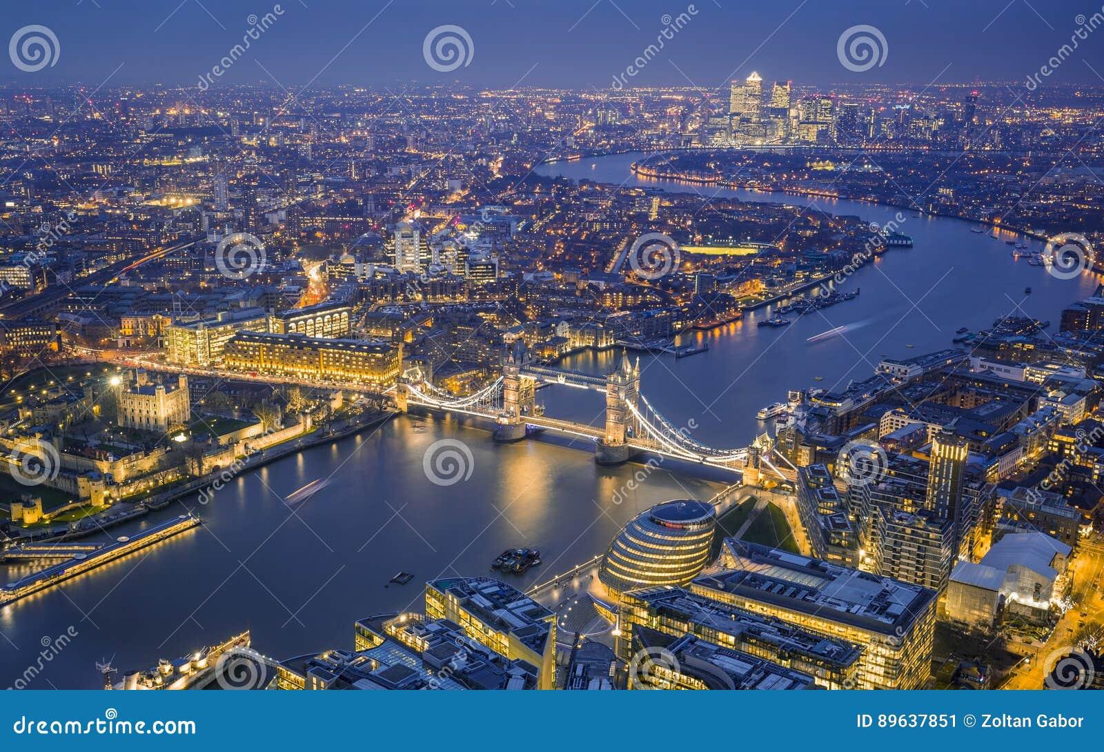 伦敦,英国-伦敦空中地平线视图