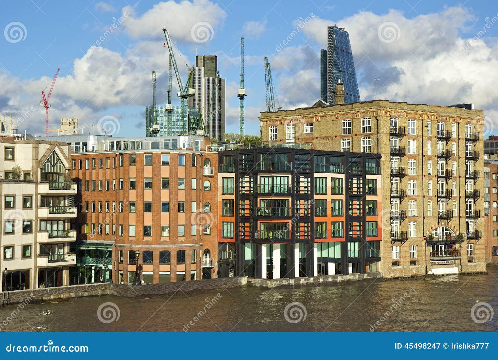 伦敦-北部银行都市风景,伦敦