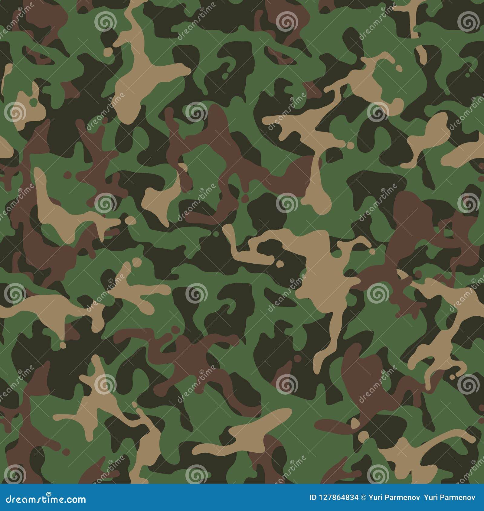 伪装模式 绿色军服 卡莫纹理