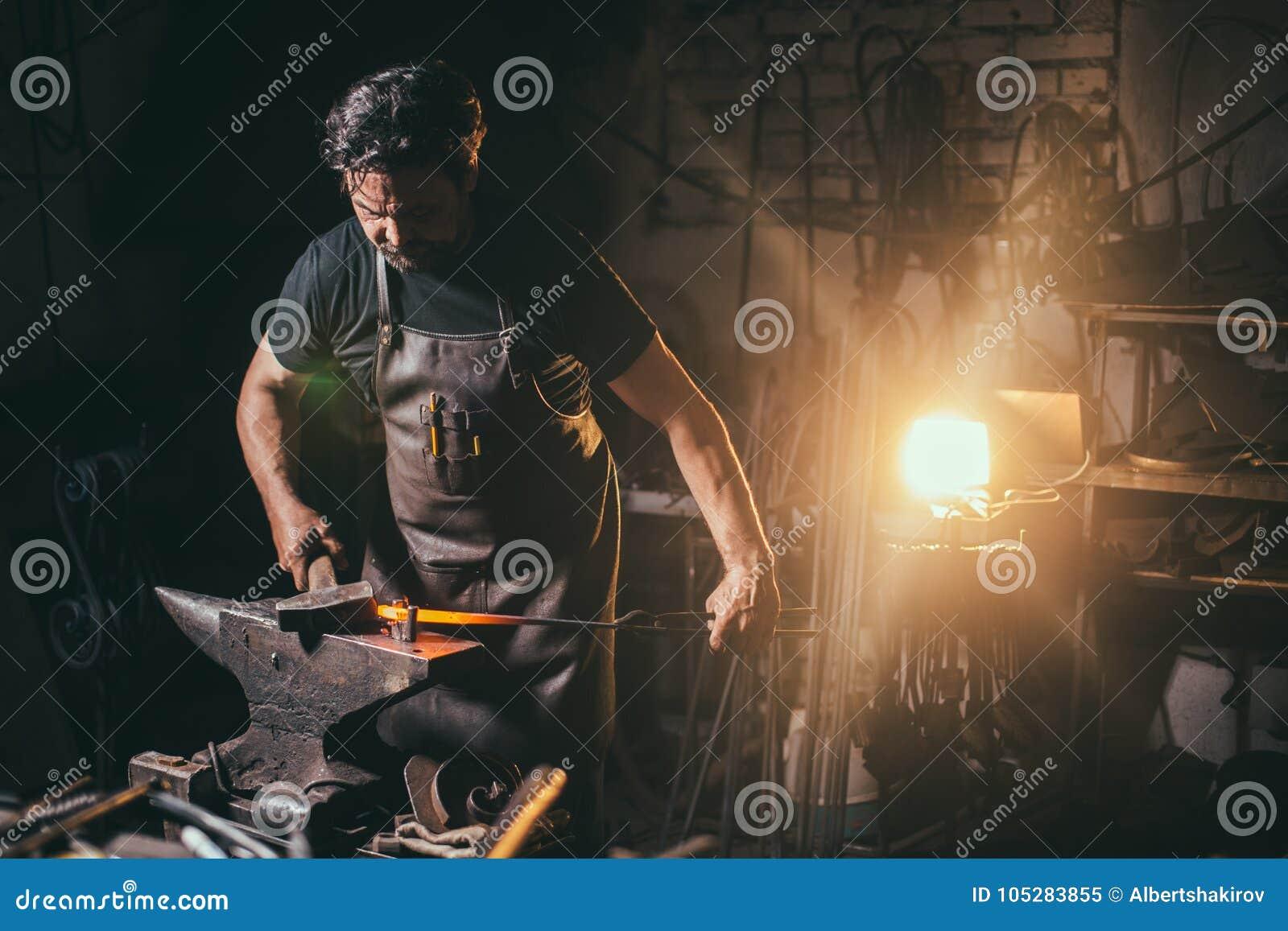 伪造,铁匠` s工作,高热金属