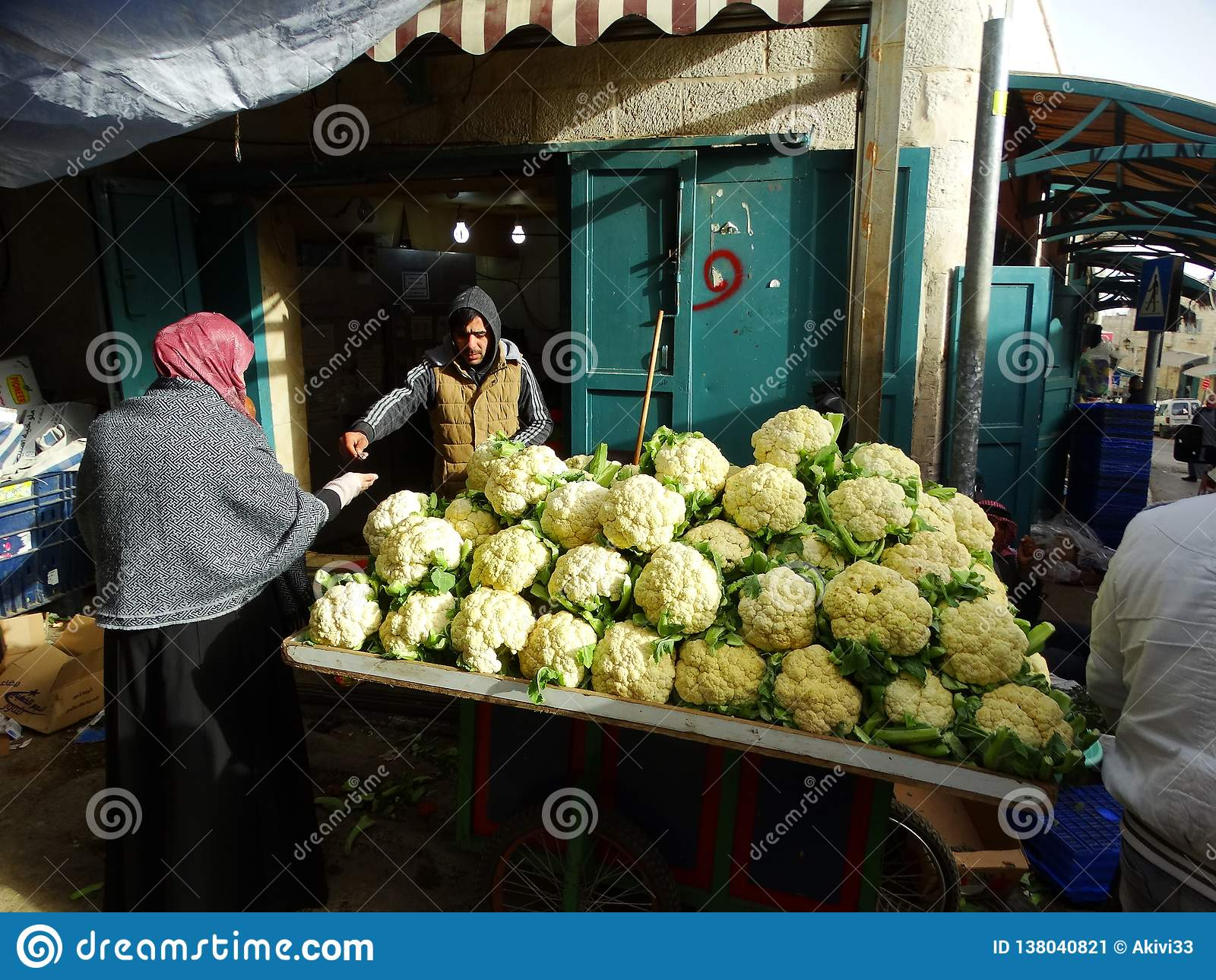 伯利恒,巴勒斯坦以色列街道场面