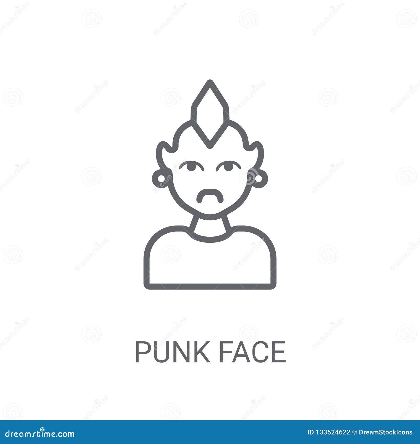 低劣的面孔象 在白色backgroun的时髦低劣的面孔商标概念