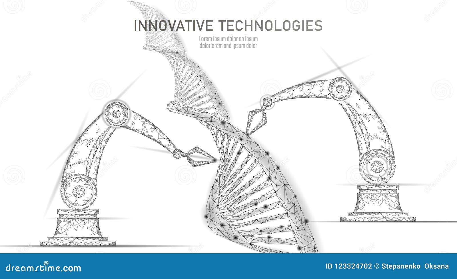 低多化学制品脱氧核糖核酸综合科学概念 多角形实验室化学遗传工程反应器 现代创新
