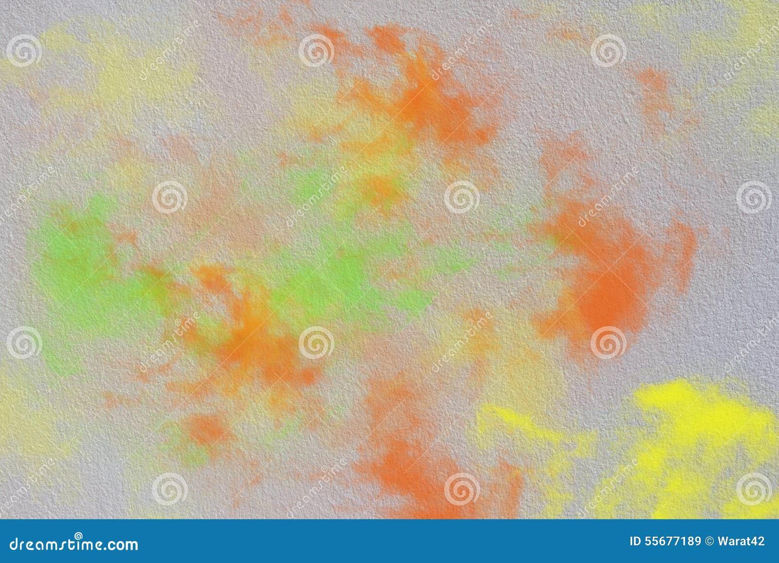 围住与橙色绿色黄色烟,抽象背景的纹理