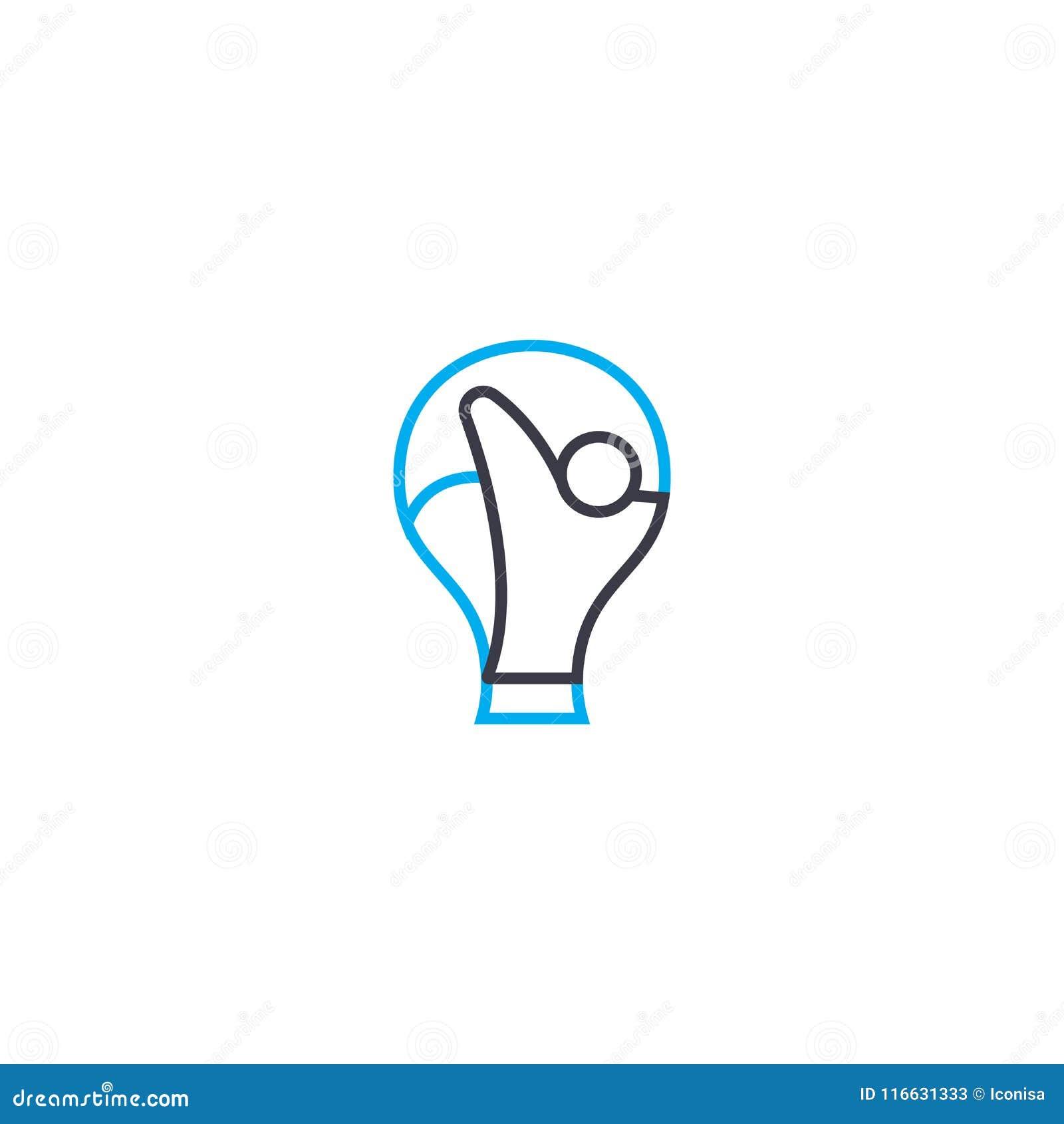 体育奖传染媒介稀薄的线冲程象 体育奖概述例证,线性标志,标志概念