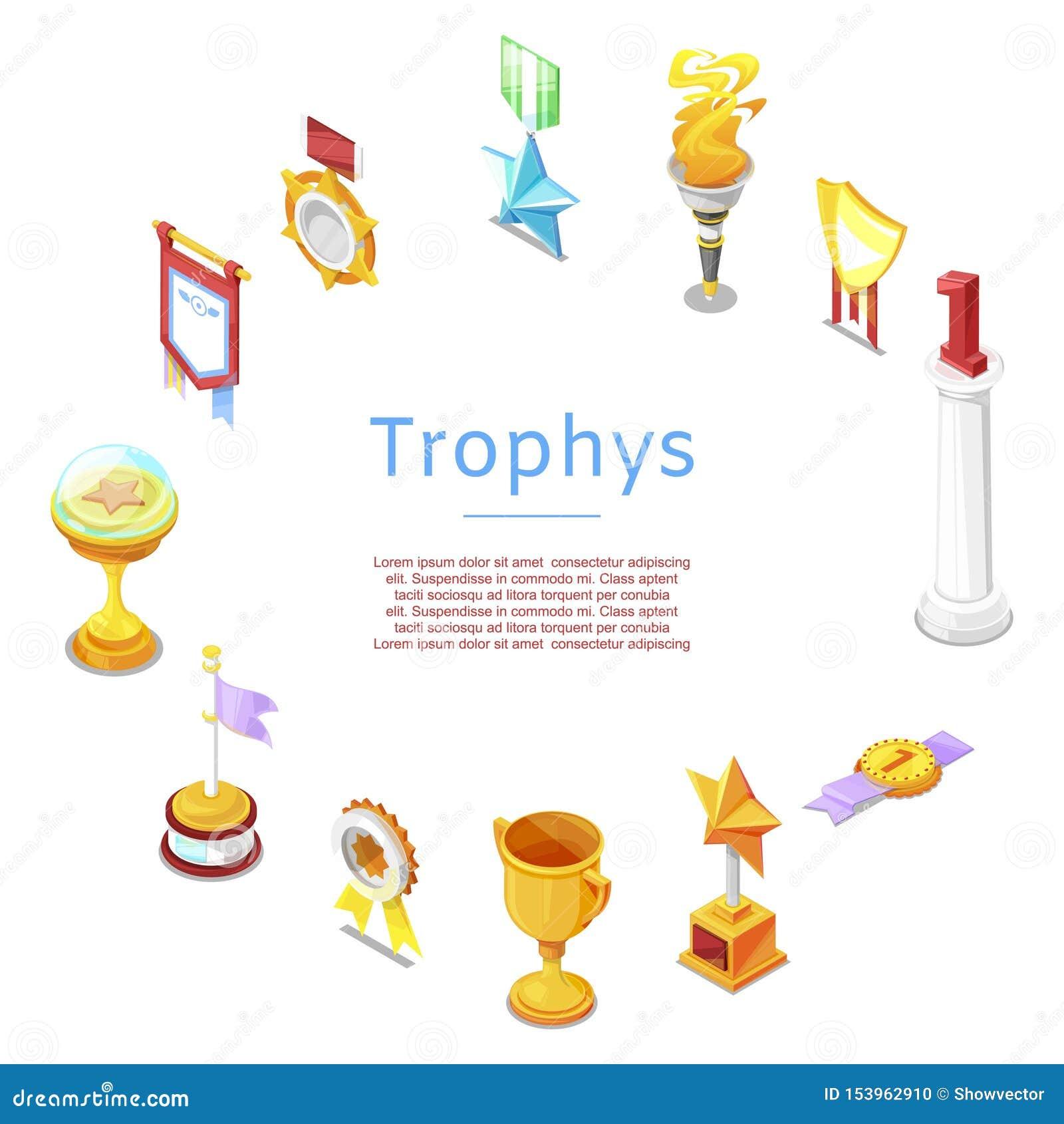 体育战利品、奖、小雕象和奖杯优胜者传染媒介象海报的 金黄奖励和金战利品为