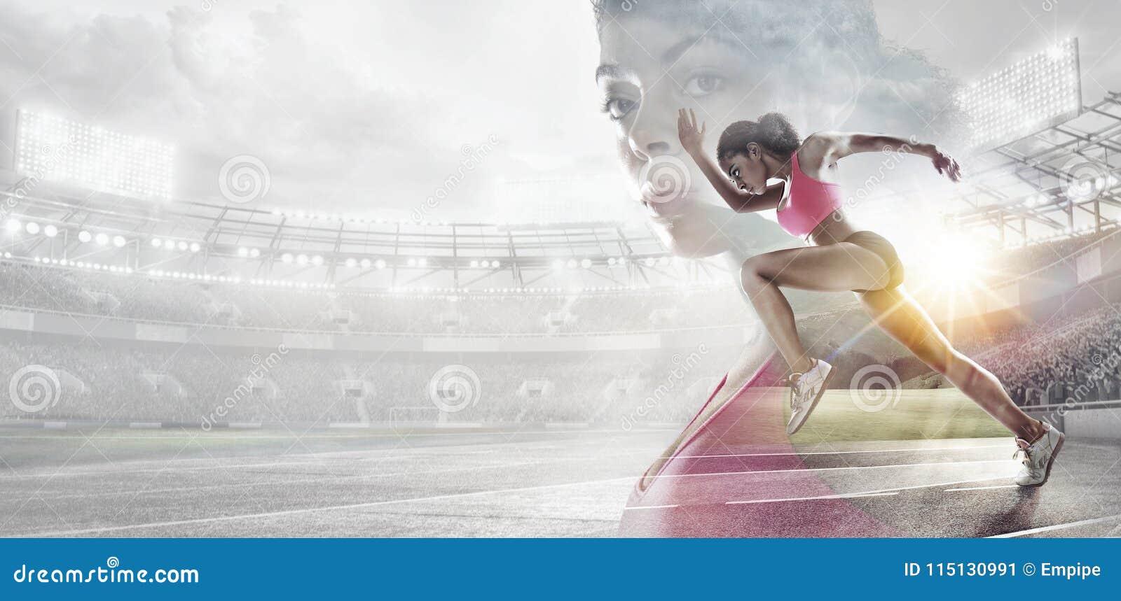 体育背景 英勇骑自行车者画象