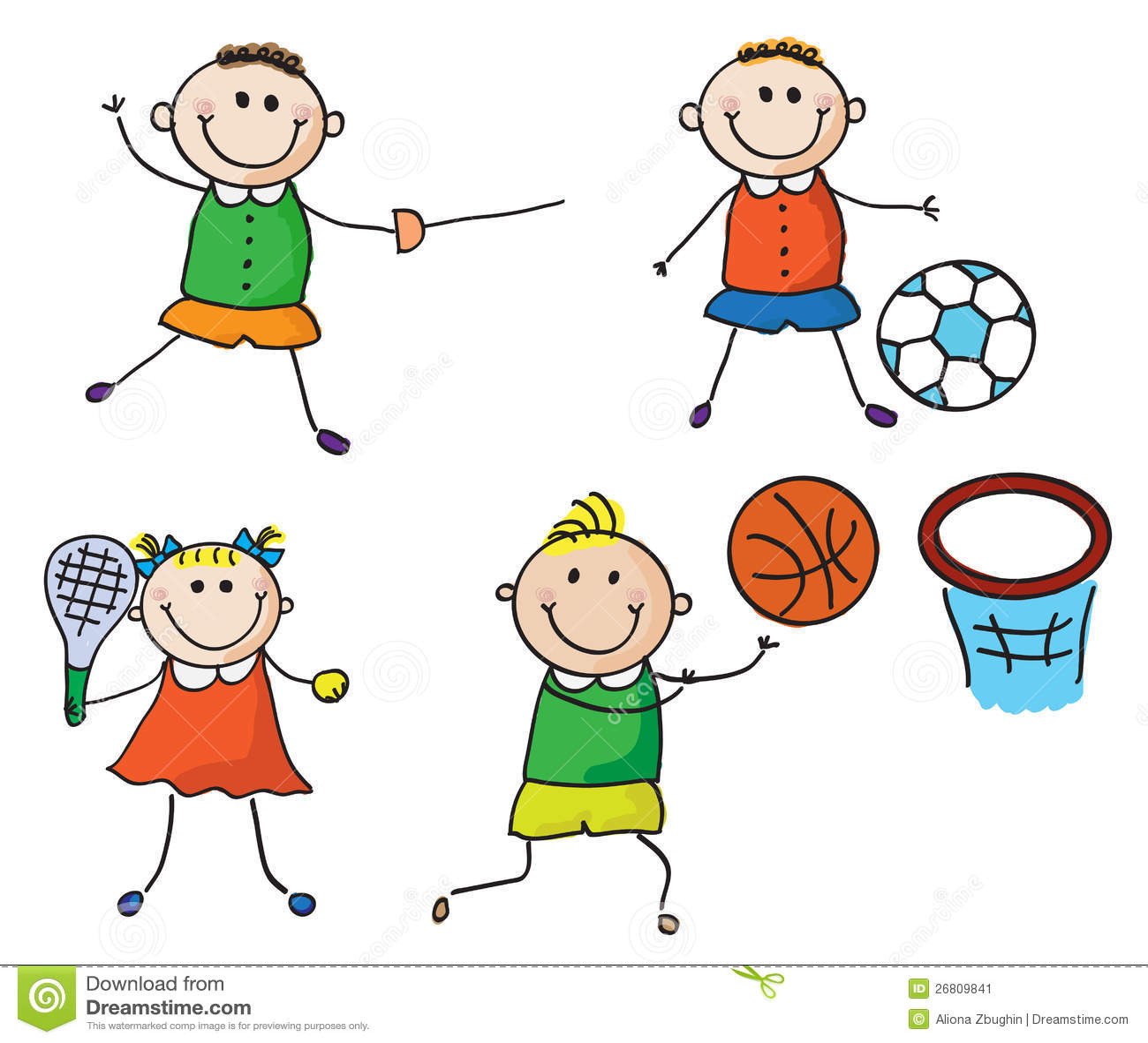 体育运动孩子