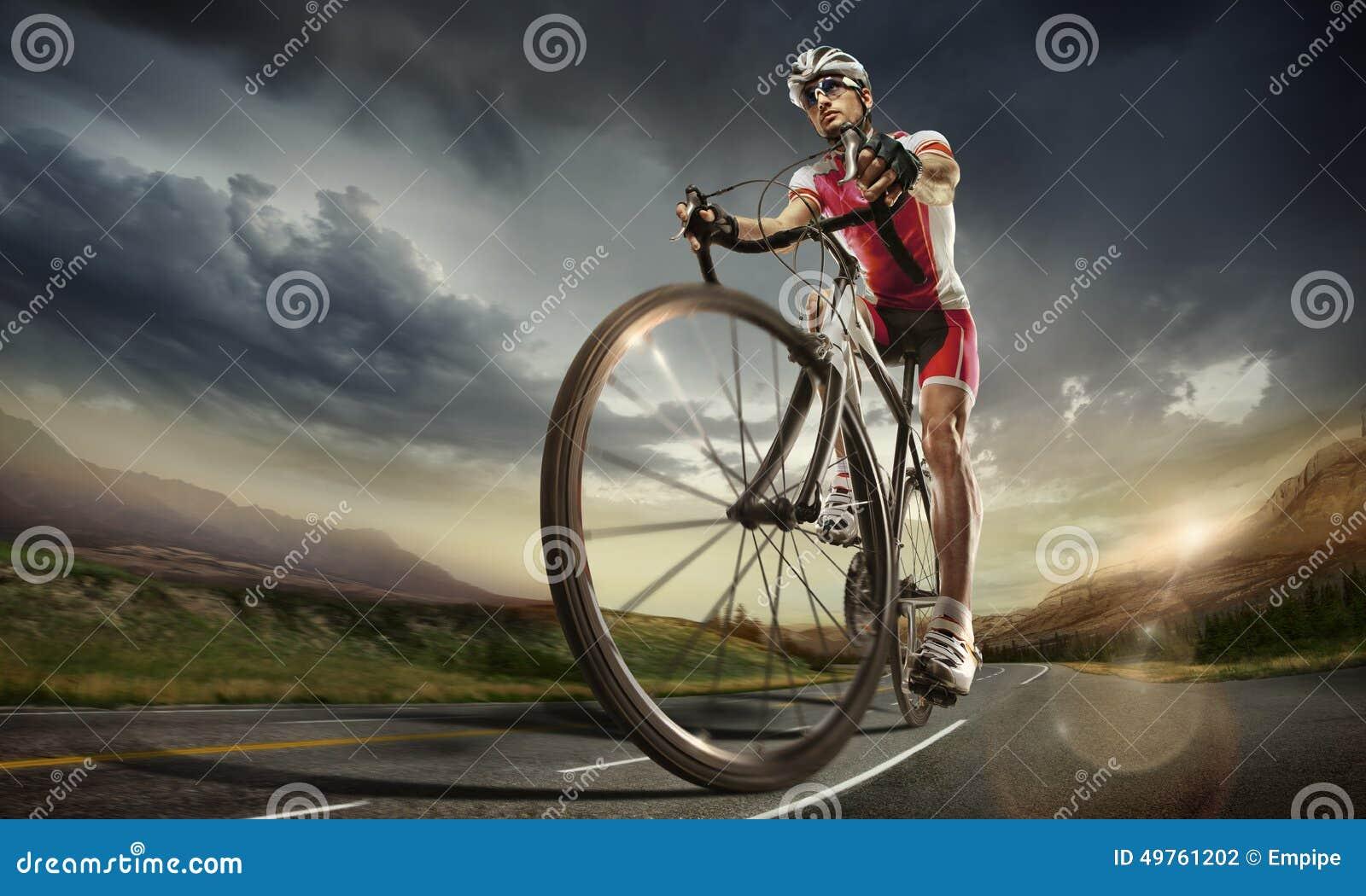 体育运动 骑自行车者