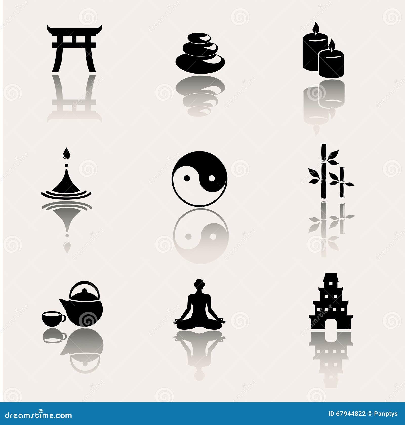 佛教,在白色背景的禅宗象