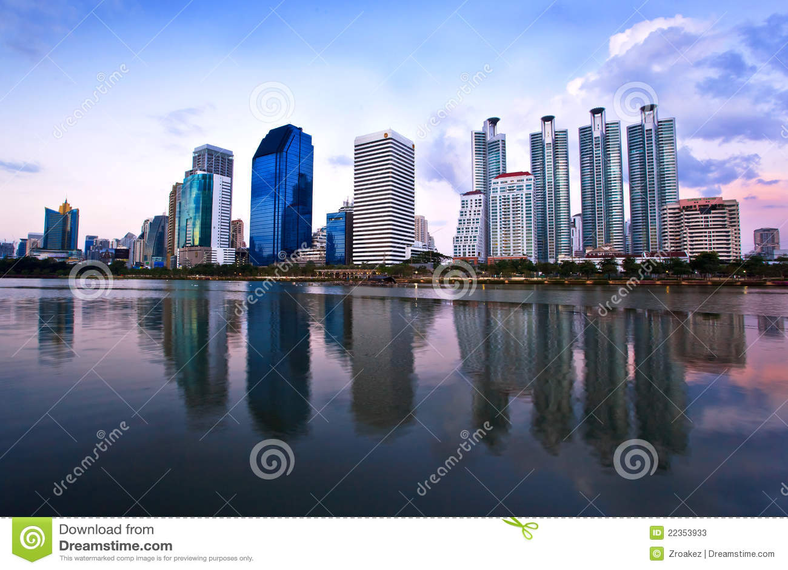 作为大厦城市都市风景泰国