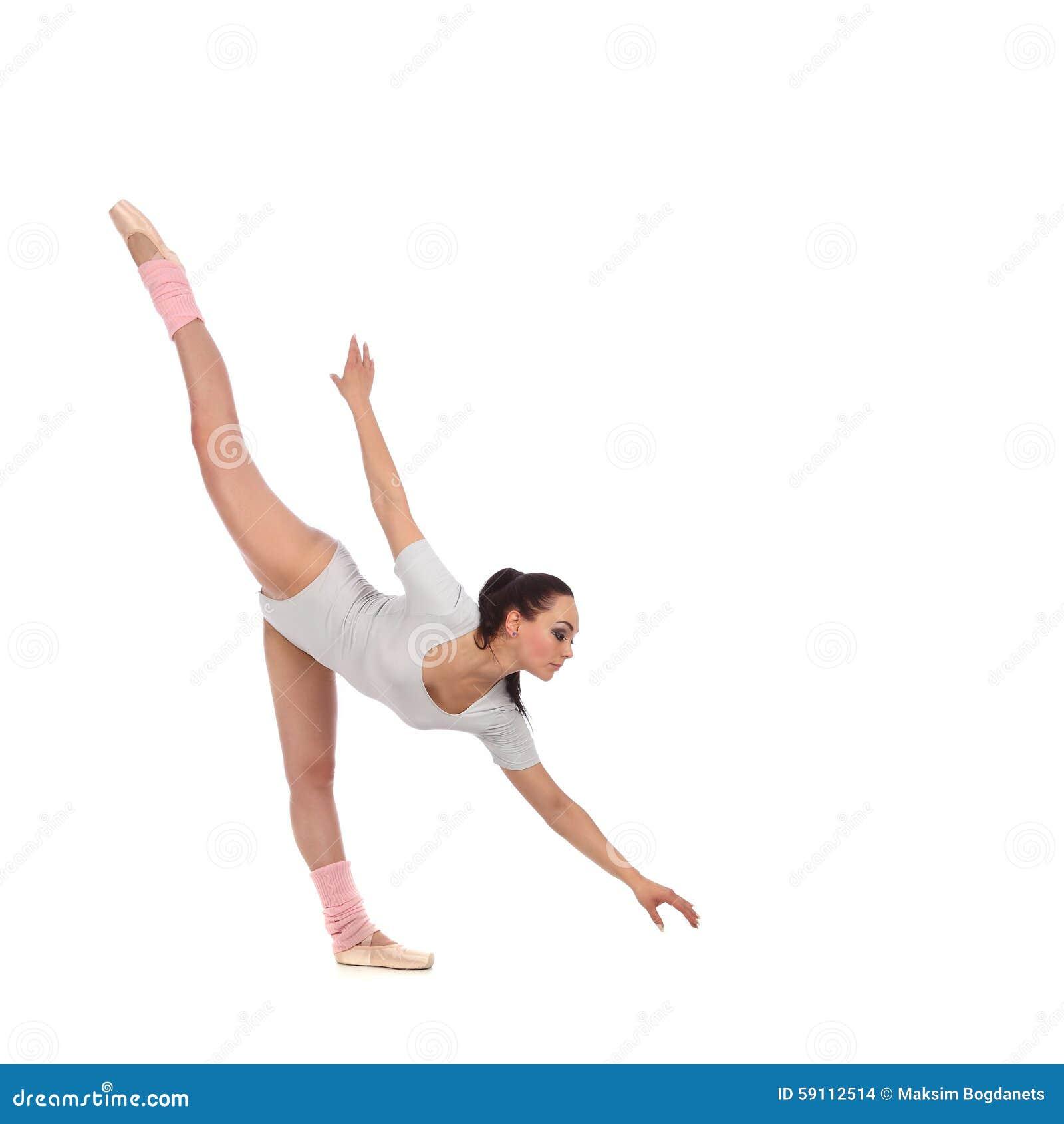 作为有美丽的面纱的一位芭蕾舞女演员打扮的女孩舞蹈家