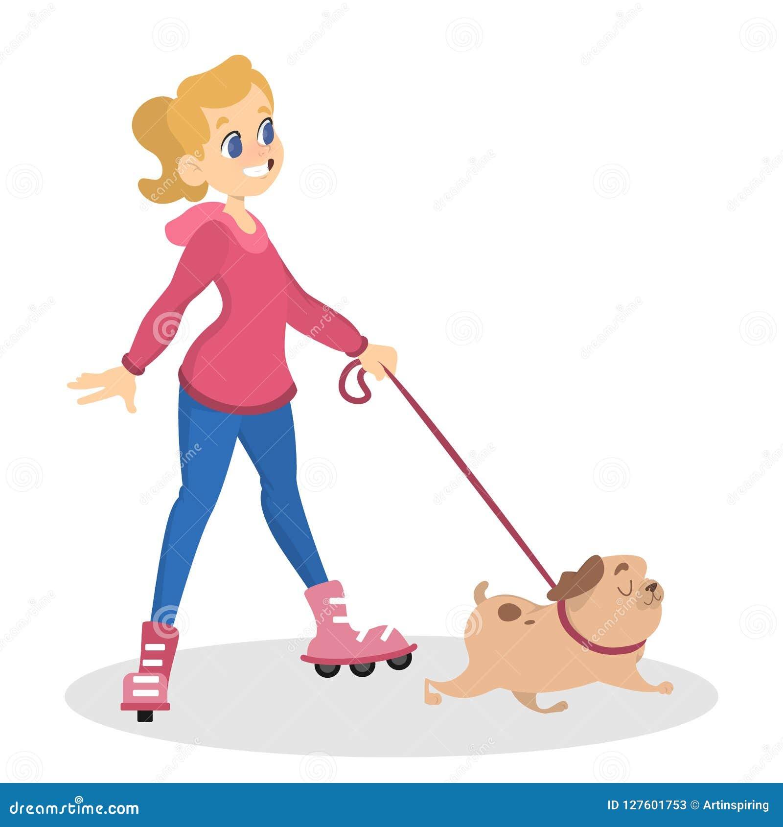 使用与她逗人喜爱的宠物的青少年的女孩