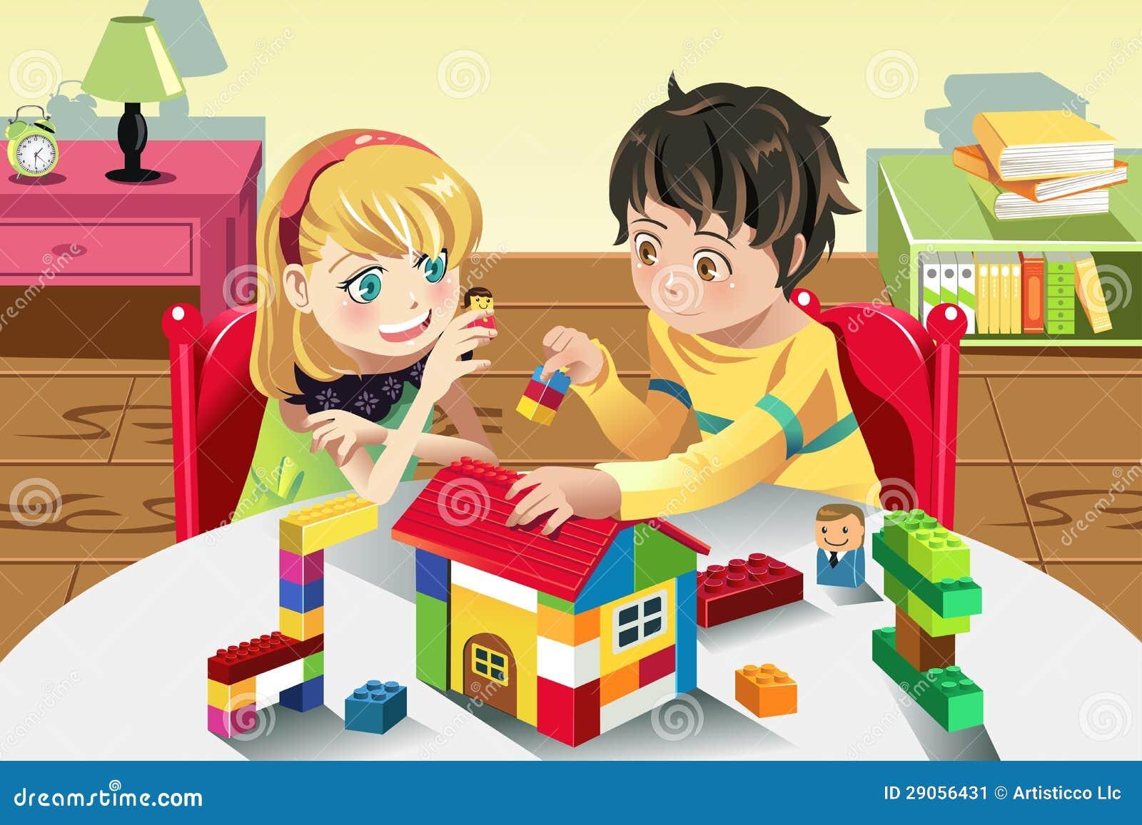 使用与玩具的孩子