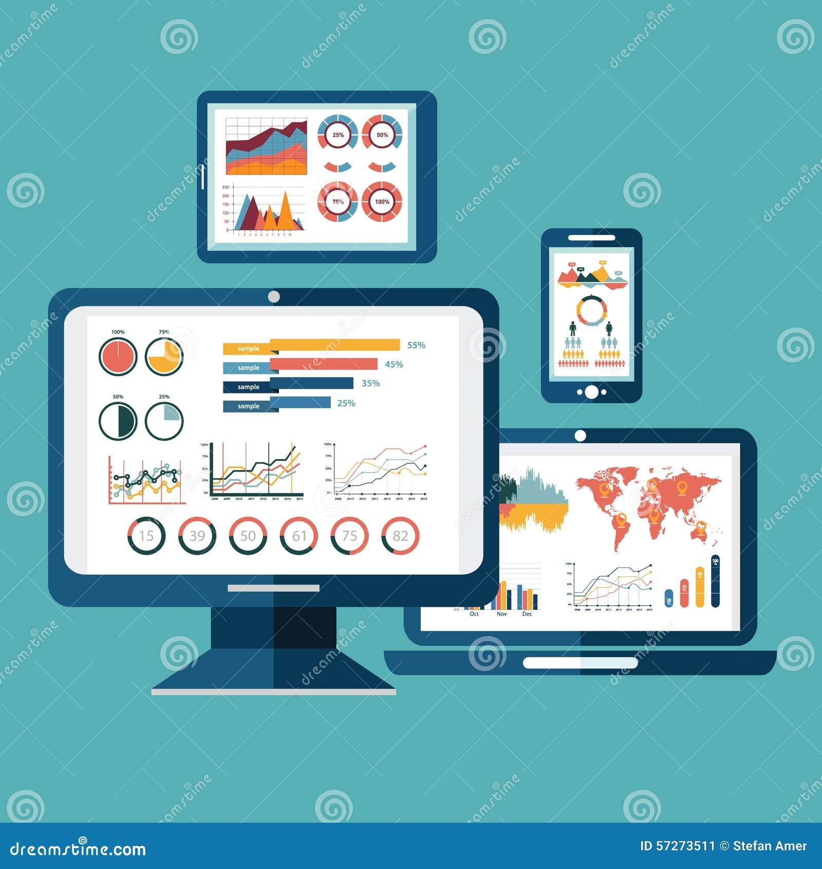 使用现代el,平的网站逻辑分析方法的设计现代传染媒介例证概念搜寻信息和计算数据分析