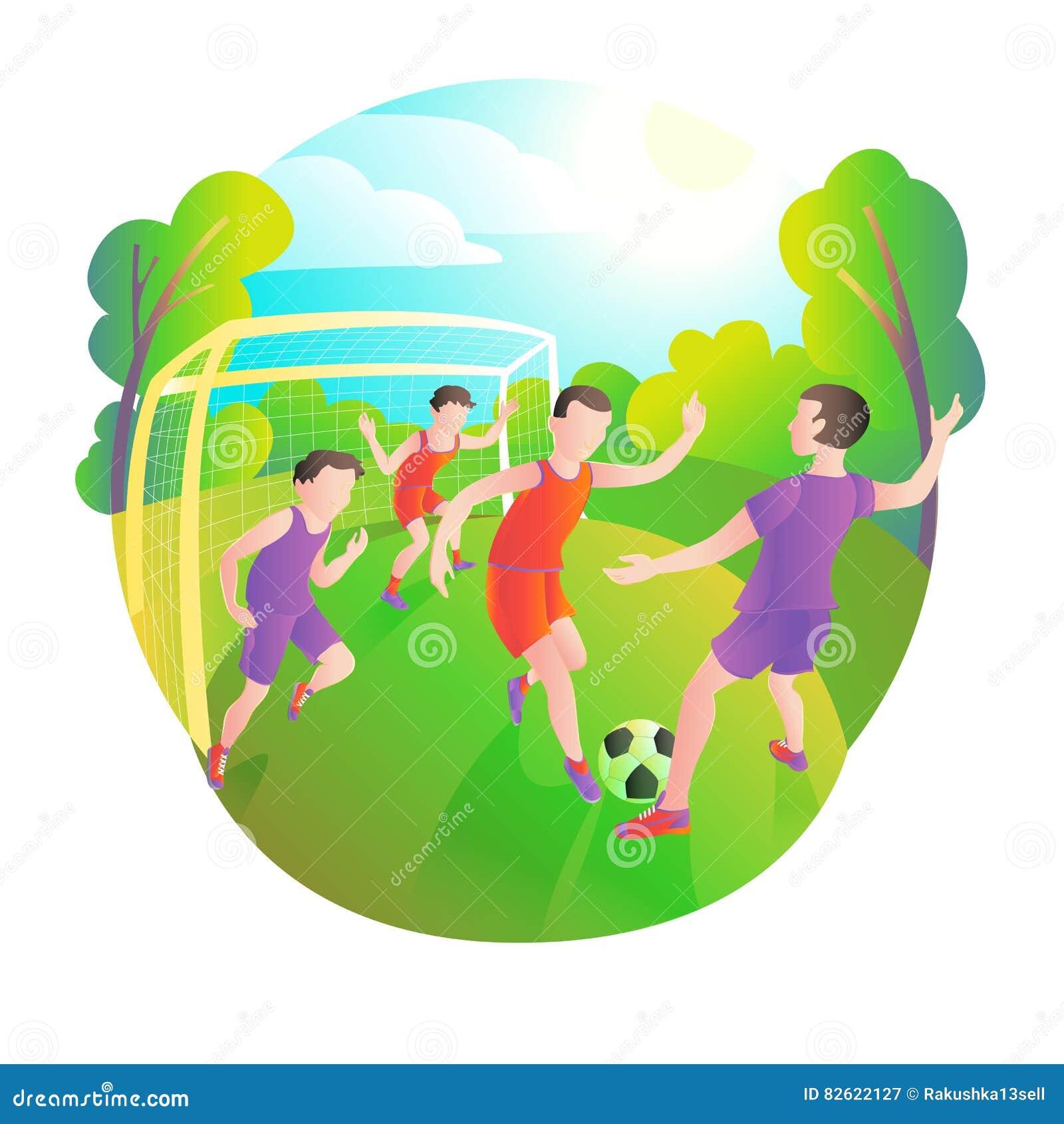 使用的足球运动员户外 橄榄球场、球员和球 门的守门员
