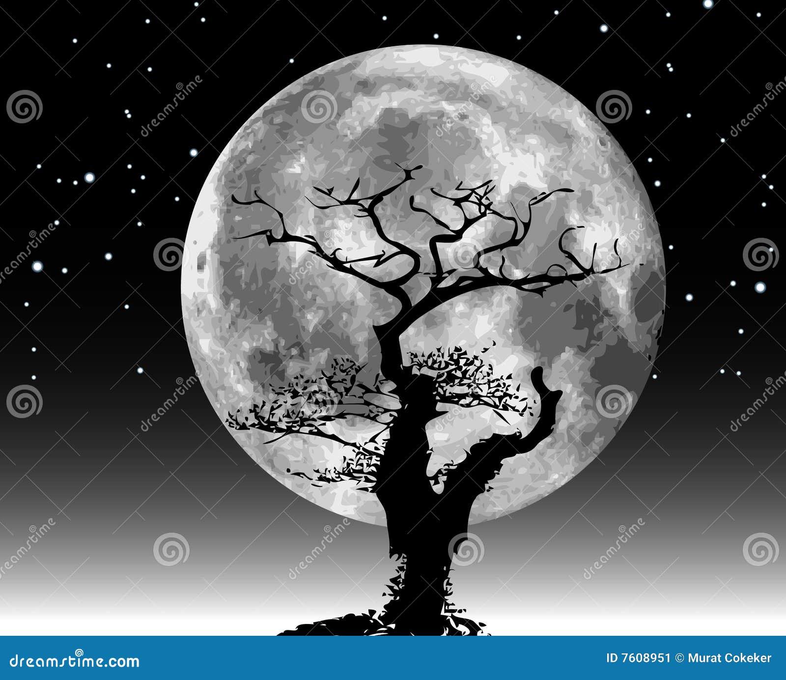 例证月亮光栅结构树