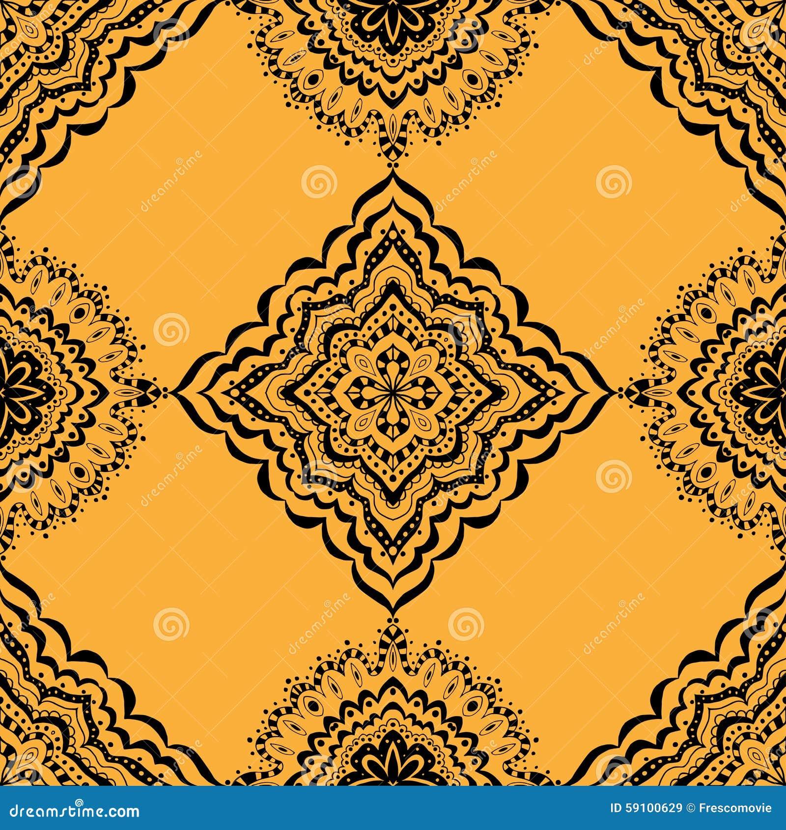 例证模式无缝的向量黄色